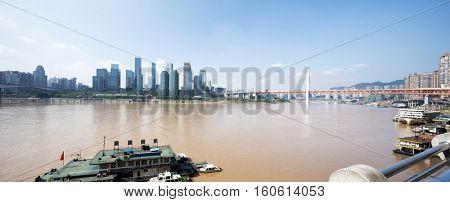 cityscape and skyline of chongqing new city