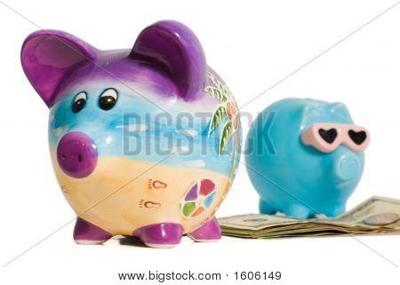 Money Between Two Piggy Banks