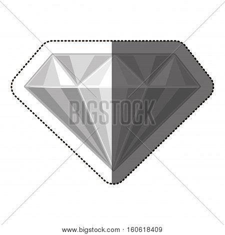 Diamond icon. Gem jewelry and brilliant theme. Isolated design. Vector illustration