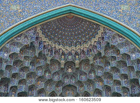 Details of Sheikh Lotfollah Mosque in Isfahan Iran Iran's World Heritage