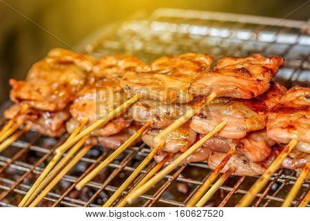 Thai Style Grilled Pork Barbeque Pork BBQ Pork