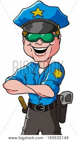 Vector Illustration of a Law Enforcement Officer