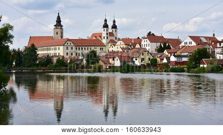Telc, a town in Moravia in the Czech Republic,UNESCO site