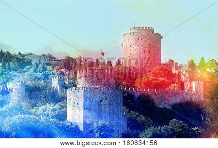 Photo miracle beautiful fortress castle in Istanbul