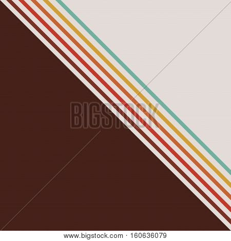 Retro and striped background icon. Vintage texture old and wallpaper theme. Vector illustration