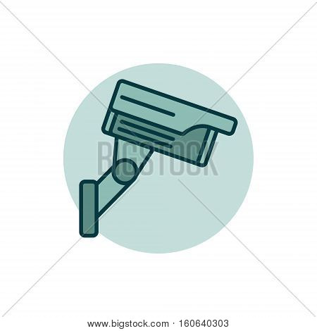 CCTV colorful icon. Vector simple video surveillance and CCTV camera concept sign