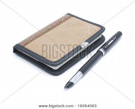 Notebook and pen pen