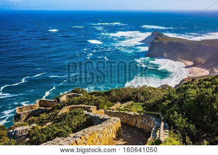 Cape of Good Hope in the Atlantic. Cape south of Cape Town, South Africa. The most extreme south-western point of Africa