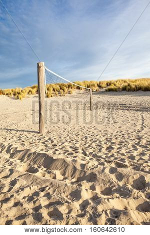 handball or volleyball in the dunes by the sea