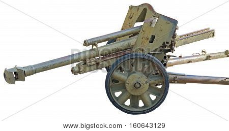 the Old German cannon isolated on white