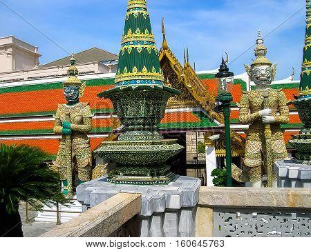 Guard Daemons - Royal Palace Bangkok at Thailand.