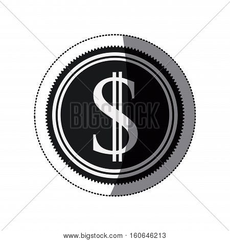 Coin icon. Money financial item commerce market and buy theme. Isolated design. Vector illustration