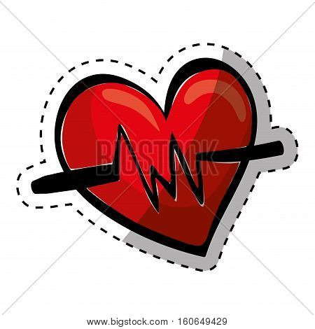 Medical cardiology heartbeat icon vector illustration graphic design