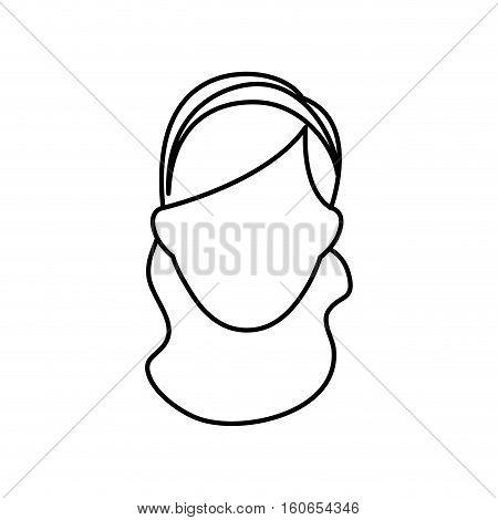 Woman sport headband icon vector illustration graphic design