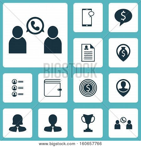 Set Of Human Resources Icons On Job Applicants, Female Application And Business Goal Topics. Editable Vector Illustration. Includes Pin, Goal, Success And More Vector Icons.