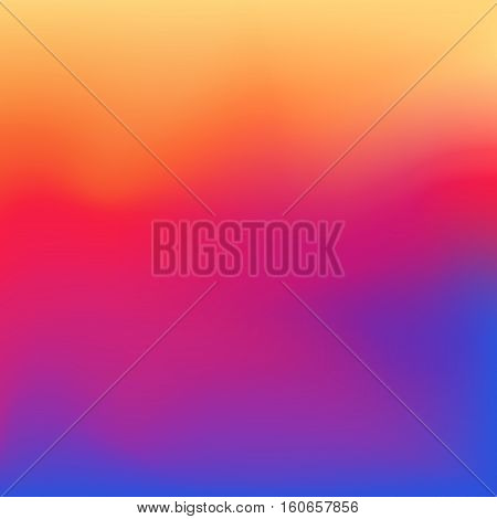 2016 instagram gradient style background. Vector smooth colorful illustration. Abstract blurred social media.