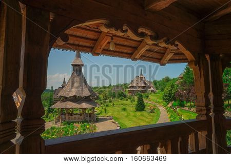 Barsana is a new temple in the Maramures county in Romania