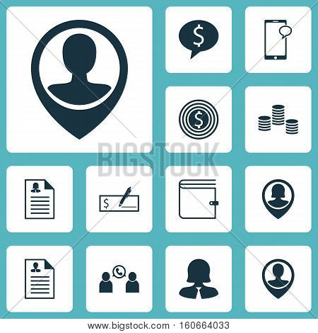 Set Of Management Icons On Female Application, Business Woman And Pin Employee Topics. Editable Vector Illustration. Includes Phone, Resume, Call And More Vector Icons.
