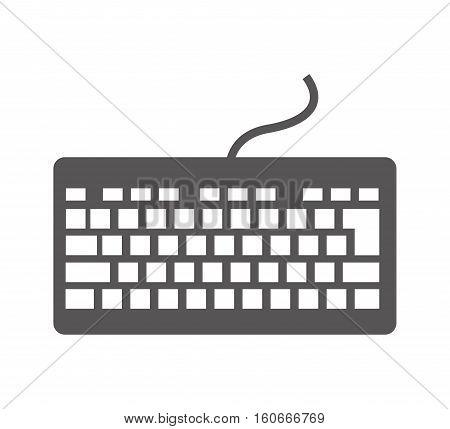 keyboard hardware isolated icon vector illustration design