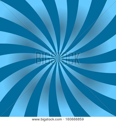 Blue Rays Poster Star Shine Wavy
