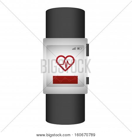 heartrate wrist monitor icon image vector illustration design