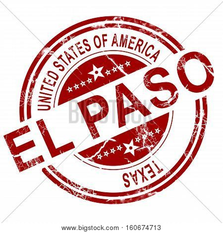 El Paso Texas Stamp With White Background