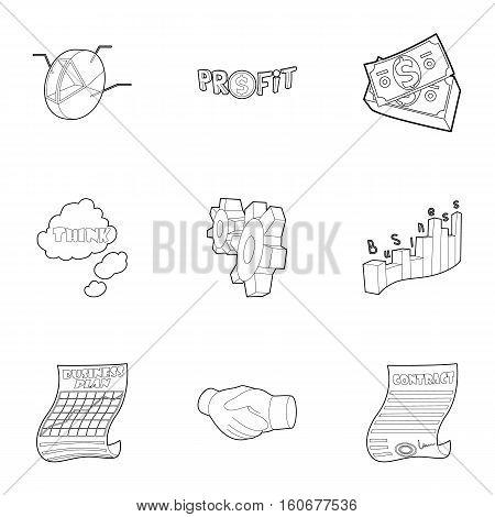Beginner icons set. Outline illustration of 9 beginner vector icons for web