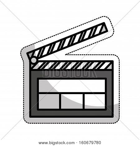 clapper board isolated icon vector illustration design