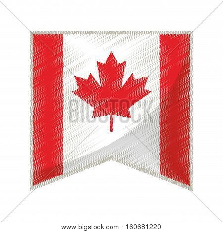 colored flag pennant canadian vector illustration eps 10