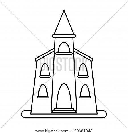 church building religious christian outline vector illustration eps 10