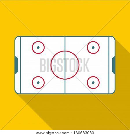 Ice hockey rink icon. Flat illustration of ice hockey rink vector icon for web design