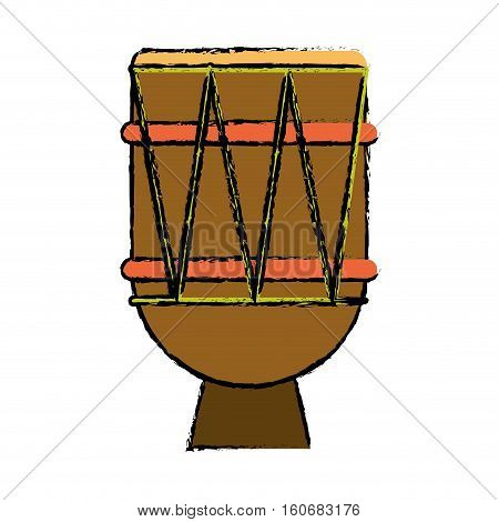 brasilian drum percussion bongo sketch vector illustration eps 10