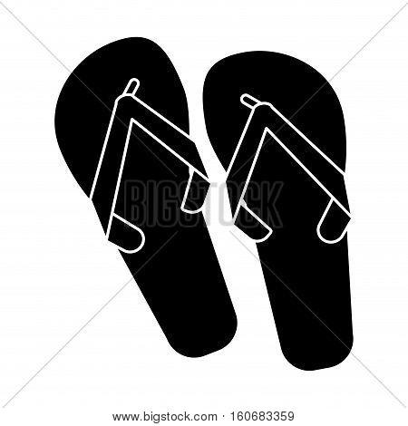 flip flop brasilian pictogram vector illustration eps 10