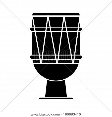 brasilian drum percussion bongo pictogram vector illustration eps 10