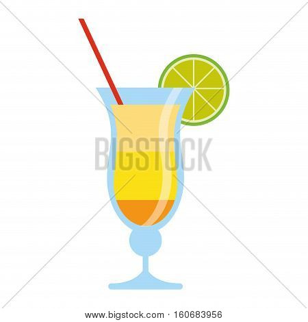 cocktail drink traditional brazil vector illustration eps 10
