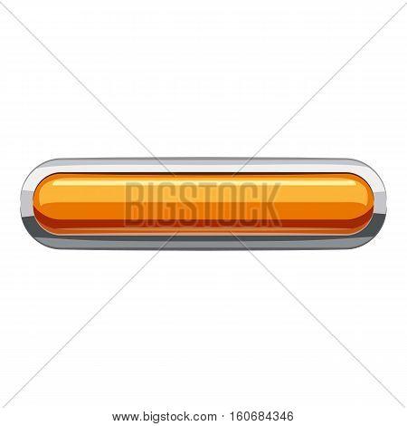 Gold rectangular button icon. Cartoon illustration of rectangular button vector icon for web design