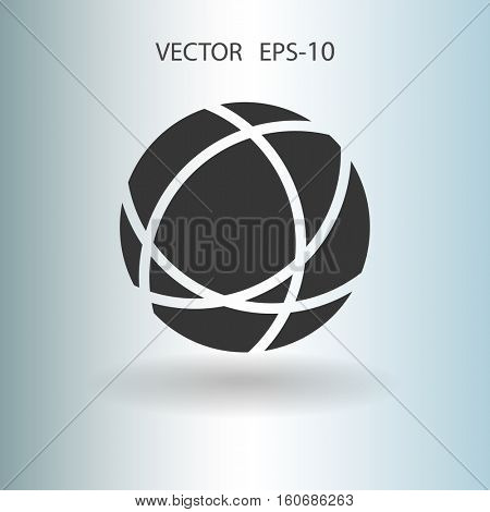 Flat icon of globe. vector illustration