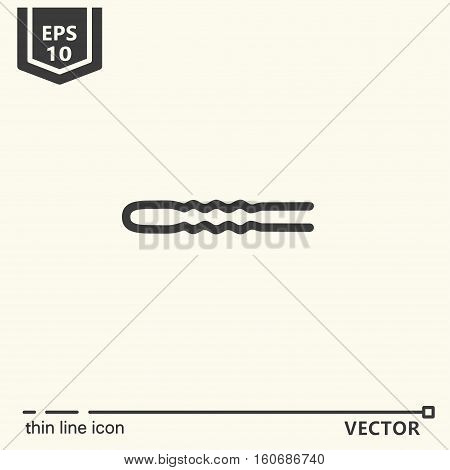 Hairdressing tools. Icons series. Hairpin Isolated object EPS 10