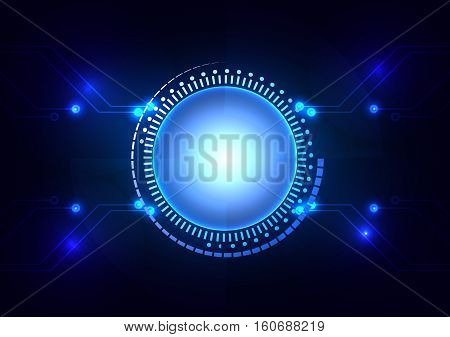 abstract technology circle concept design. illustration vector design