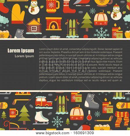 Vector Winter Cartoon Background