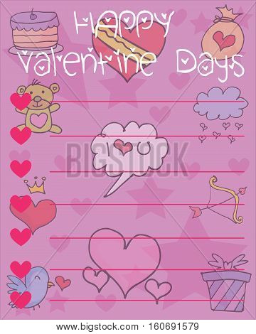 Collection stock of valentine day card vector illustration