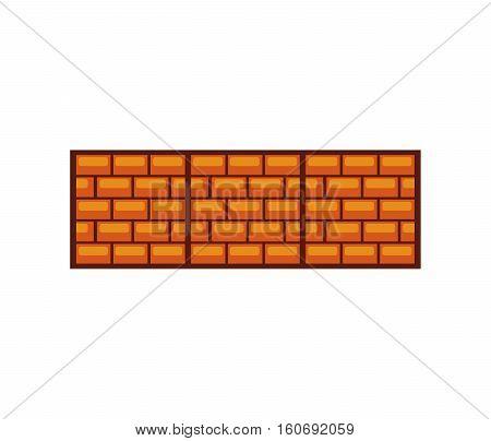 game bricks pixelated icon vector illustration design
