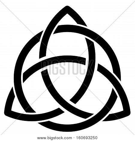 Illustration of a celtic smybol on a white background