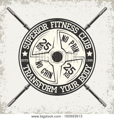 Vintage t-shirt graphic design,  grange print stamp, fitness typography emblem,  gym sports logo Creative design, Vector