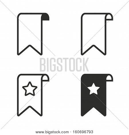 Bookmark vector icons set. Illustration isolated for graphic and web design.
