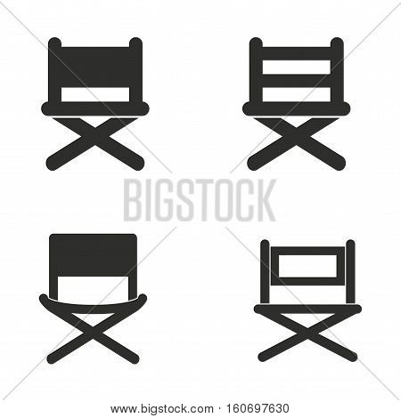 Director chair vector icons set. Illustration isolated for graphic and web design.