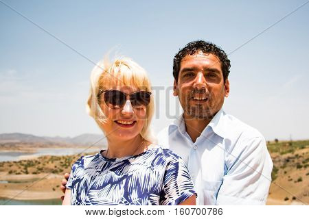 Guide Moroccan Man And Tourist In A Journey Through Morocco