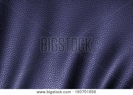 Deep blue leather texture leather background for design with copy space for text or image. Pattern of leather that occurs natural.