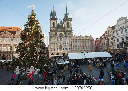 Christmas Market At Old Town Square In Prague