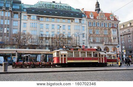 Restoran Like As Tram On Wenceslas Square